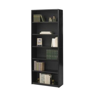 BEM 7174BL Black 6 Shelf Bookcase